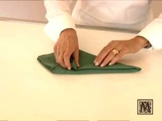 Napkin Folding - Butler Style