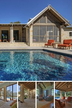 This ranch home is for a client in the Hill Country near Austin, Williamson County, Texas on the South San Gabriel River. There are dramatic 150-ft. limestone cliffs across the river from the property and it was a priority that the home design focus on this significant view. - See more at: http://chambersarchitects.com/hill-country-ranch-on-san-gabriel-river.html