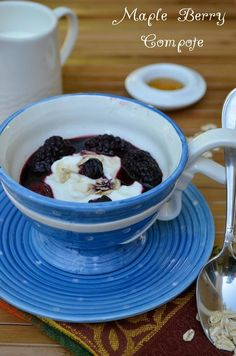 Healthy Breakfast Recipe for kids: Maple Berry Compote With Yogurt