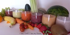 Frullati Detox Detox Recipes, Dolce, Fruit Salad, Cantaloupe, Watermelon, Smoothies, Desserts, Food, Home