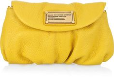 4f91d949d Marc by Marc Jacobs Karlie leather clutch - ShopStyle. Yellow ClutchBest  HandbagsPurses ...