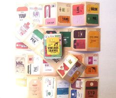Vintage Travel Stickers by MaybeMabel on Etsy, $12.00