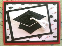 Graduation Day Card.Handmade Stampin Up Greeting cards.Unique! Iris Fold.3-D