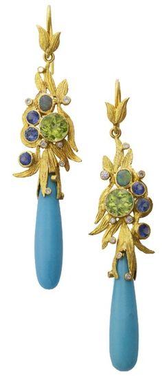Laurie Kaiser Lemongrass Bouquet Earrings