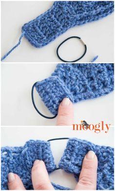 Warm Cabled Headwarmer/Ear Warmer - free crochet pattern on Mooglyblog.com!
