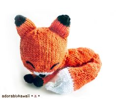 Knit Sleepy Fox ... by Adorably Kawaii | Knitting Pattern - Looking for your next project? You're going to love Knit Sleepy Fox Amigurumi by designer Adorably Kawaii. - via @Craftsy