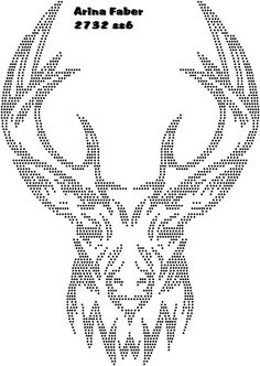 T T deer head grid Quilling Patterns, Beading Patterns, Punched Tin Patterns, Rhinestone Crafts, Nail String Art, String Art Patterns, Beadwork Designs, Swedish Weaving, Dot Art Painting
