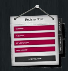 Design a Clean, Stylish Registration Form Design Files, Ui Design, Registration Form, Photoshop Illustrator, Web Development, Cool Designs, Cleaning, Stylish, Fonts