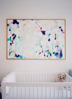 Totally cool modern nursery: http://www.stylemepretty.com/living/2017/01/30/inspiration-for-a-chic-modern-nursery/ Photography: Audra Wrisley - http://audrawrisley.com/ #AwesomeMom