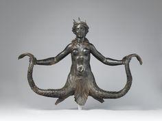 Siren / Origin: Italy / Date: ca. / Medium: Bronze / Location: The Metropolitan Museum of Art, New York Mythical Creatures, Sea Creatures, Snake Monster, Sphinx, Art Roman, Mermaids And Mermen, Greek Art, Merfolk, Sea Monsters
