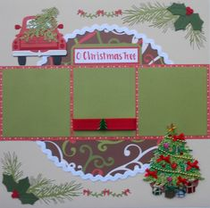 Hidden Journaling Christmas Tree Paper Piecing Traditional Premade Scrapbook Page Layout Christmas Scrapbook Layouts, Scrapbook Titles, Scrapbook Page Layouts, Scrapbook Cards, Scrapbooking Ideas, Scrapbook Designs, Wedding Scrapbook, Scrapbook Sketches, Christmas In July