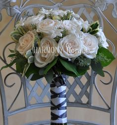 stars (stephanotis) above the cloud of roses