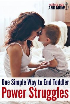 Feeling frustrated with toddler power struggles? This worked so well for us! Great for toddler power struggles, toddler tantrums, difficult toddler behavior.