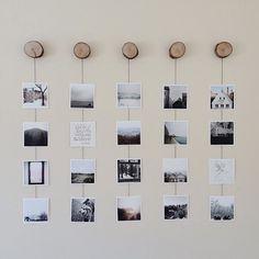 Фотографии на проволоке