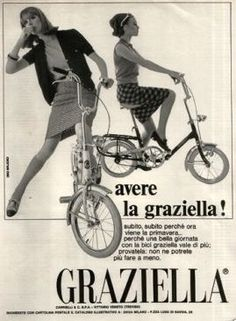 To have a Graziella! Hurry, hurry, because Spring is coming. Vintage Italian Posters, Vintage Advertising Posters, Vintage Advertisements, Vintage Ads, Vintage Designs, Poster Vintage, Vintage Italy, Vintage Market, La Trattoria