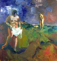 "callumswood: "" Elmer Bischoff - 1960 - Two Bathers """