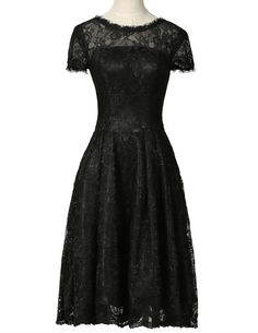 Grace Karin Black Cocktail Dress Short Sleeve Lace Robe De Cocktail Pa – Gifts…