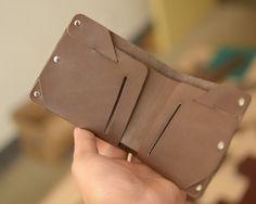 47ded17c5a98c Mens Leather Wallet handmade wallet vintage Slim Bifold Billfold Minimalist leather  wallet billfold Gift  N05