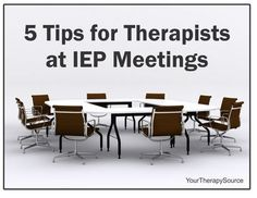 Pediatric Therapy Corner: 5 Tips for Therapists at IEP Meetings - pinned by @PediaStaff – Please Visit  ht.ly/63sNt for all our pediatric therapy pins