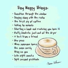 Little happy things- love this sweet little list!