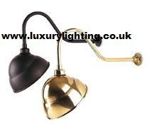 150w swan neck pub light in satin brass aluminium lamps black swan neck sign light firstlight lighting products mozeypictures Image collections
