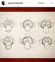 Character Design for a project that, unfortunately, didn't happen. Cartoon Monkey Drawing, Cartoon Drawings, Cartoon Art, Art Drawings, Monkey Drawing Easy, Animal Sketches, Animal Drawings, Drawing Sketches, Monkey Illustration