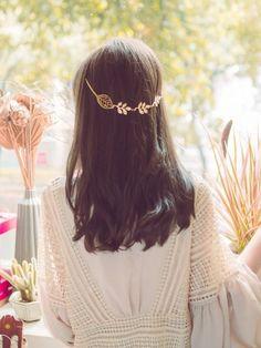 Leaf Golden Hairpin For Women #Hairpin