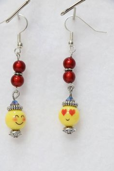 """Where your EMOJI on your ears instead of your shoulders. SIZE 1 3/4""""   E-62"""