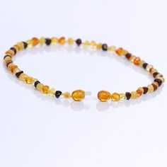 Ariz Products www.arizproducts.com Baltic Amber Teething Necklace, Natural Pain Relief, Beaded Bracelets, Jewelry, Products, Jewlery, Jewerly, Pearl Bracelets, Schmuck