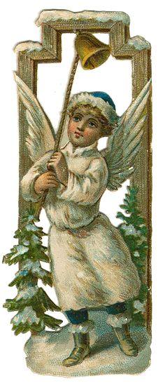 Vintage Victorian Christmas Die Cut Scrap