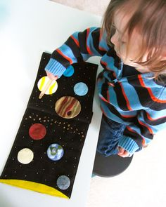 Solar System Quiet Book Page