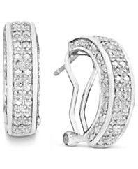 Channel set diamond earrings