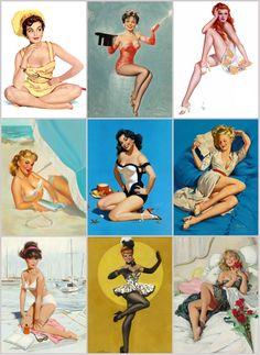 Fotos Pin Up, Pin Up Illustration, Pin Up Girl Vintage, Retro Pin Up, Pin Up Poses, Cute Poses, Earl Moran, Shy Girls, Pin Up Girls