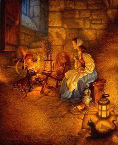 Scott Gustafson, illustration from 'Rumpelstiltskin'
