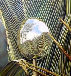 PLUMAS VEGETALES. Pintura, Óleo/tela, 120 x 100 cm. Jorge Luna. (pintor mexicano).