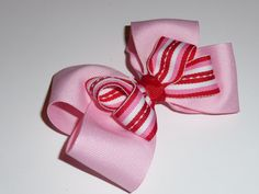 Candy Cane Boutique Hair Bow