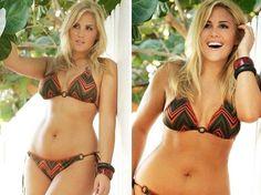 "Nicole 5'9"", 170 pounds, 31 inch waist, 43 inch hips"
