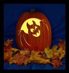 """This Pumpkin is Carved to Order.The Pumpkin is a Micheal's 13"""" Craft PumpkinThe price includes the Carved Pumpkin and a """"plug in""""  light with inline switch.Also includes a Orange -  LED  C7 Night Light Bulb - 50,000 Life HoursThe LED Bulb Remains Cool to the Touch.There is also Hole in the Bottom, if you prefer to use a Battery Powered Disc Light. (not included)Carved by Professional Pumpkin Carver St0ney.It is a perfect gift for friends and family.<---------------------------------------------- Disney Pumpkin Carving, Scary Pumpkin Carving, Ghost Pumpkin, Halloween Pumpkin Designs, Halloween Labels, Fall Halloween, Halloween Pumpkins, Halloween Party, Bricolage"""