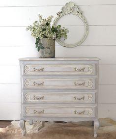Vintage Painted French Dresser #shabbychicdressersvintage
