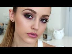 Simple Taupes & Purples | Makeup Look - YouTube