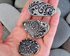 Heart magnets set. I love you. Valentines day gifts. Unique gifts for him. Unique gifts for her.  Happy Hearts Stone Magnets (Set of 3 rock