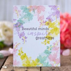 Beautiful Minds Card by Betsy Veldman for Papertrey Ink (July 2018)