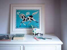 Piebald Circus Horse from greypeg. Perfect for horse lovers this galloping circus horse would look stunning in a girl's bedroom. Originally an illustration by Felicity Ashbee.