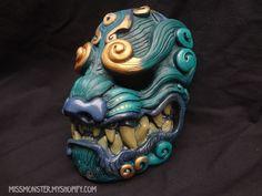 Missmonster - Komainu mask Green by missmonster