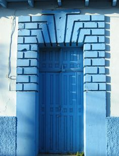 """Mexico: """"There's a flat surface, and then a rough surface, and then the door with a lot of detailing,"""" says van Bleiswijk. """"So it's a lot to see, but because everything is blue, it becomes sort of easy to look at."""""""