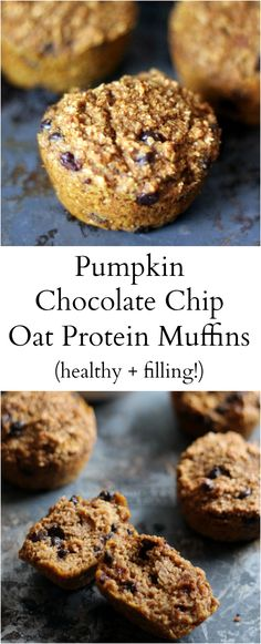 Healthy pumpkin oat bran muffins made with protein powder and greek yogurt to help keep you full! These muffins are delicious! Healthy pumpkin oat bran muffins made with protein powder and greek yogurt to help keep you full! These muffins are delicious! Protein Snacks, Healthy Protein, Protein Cake, High Protein, Protein Cookies, Protein Bread, Muffin Recipes, Breakfast Recipes, Oat Bran Muffins