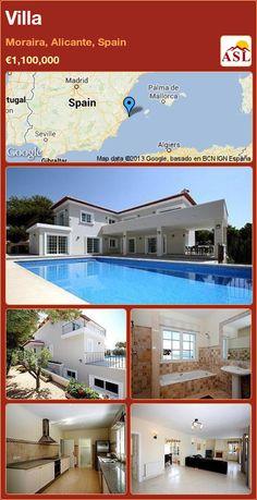 Villa in Moraira, Alicante, Spain ►€1,100,000 #PropertyForSaleInSpain