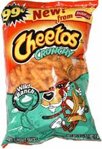 Wild ranch flavoured crunchy Cheetos pack (front only)