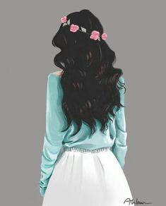 45 ideas for drawing kawaii hair Beautiful Girl Drawing, Cute Girl Drawing, Cartoon Girl Drawing, Beautiful Anime Girl, Beautiful Drawings, Girl Drawing Pictures, Tumblr Girl Drawing, Girly M, Sarra Art