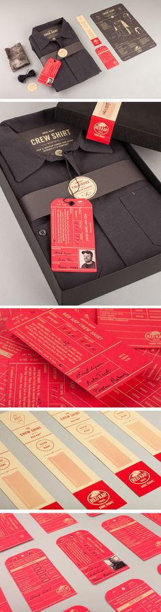 Red Kap, Men's Clothing Label Design, packaging design by Perky Bros llc